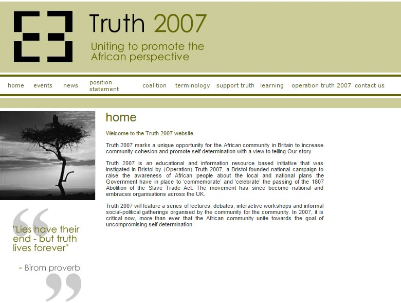 Truth 2007: Uniting to promote the African perspective