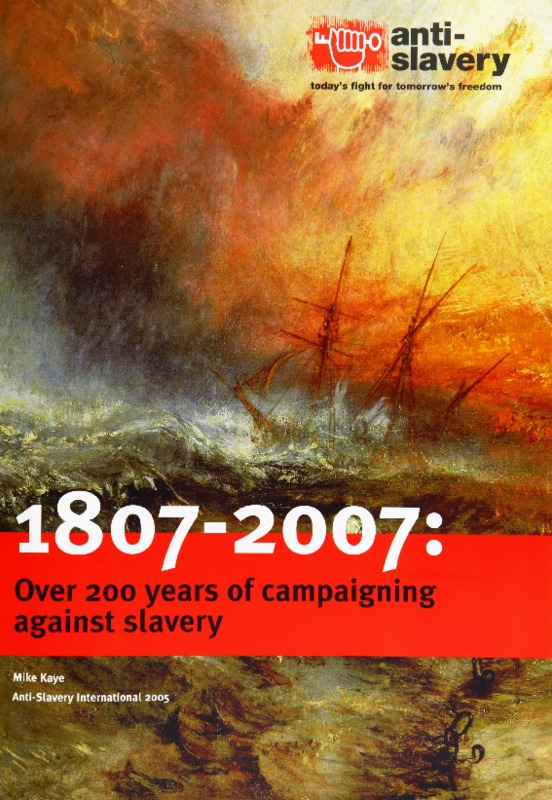Anti-Slavery International, 2007