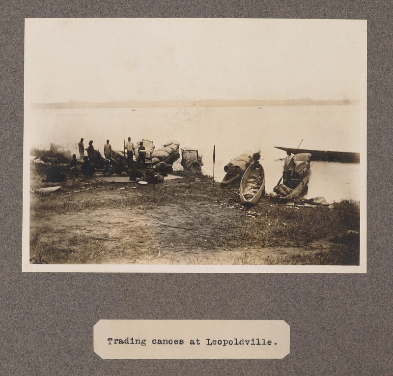 Trading canoes at Leopoldville