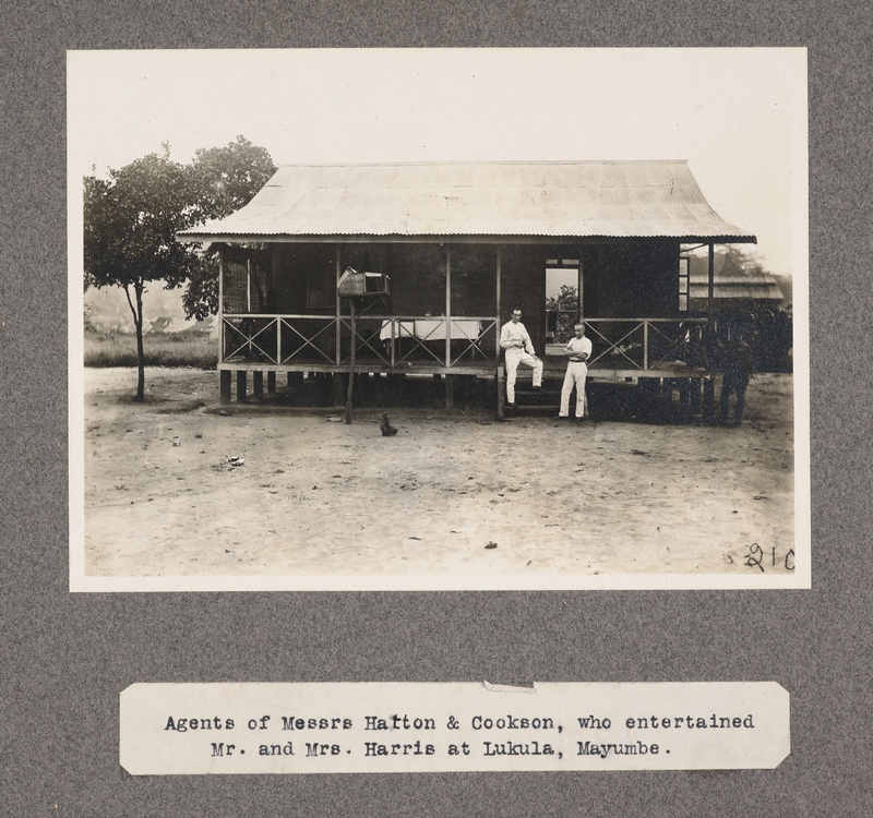 Agents of Messrs. Hatton & Cookson, who entertained Mr. and Mrs. Harris at Lukula, Mayumbe