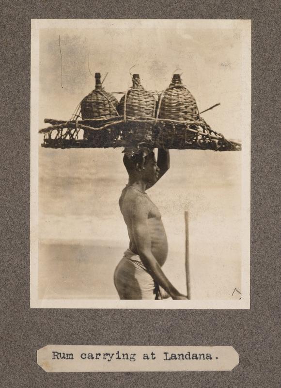 Rum carrying at Landana