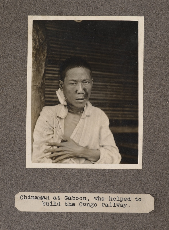 Chinaman at Gabon who helped to build the Congo railway