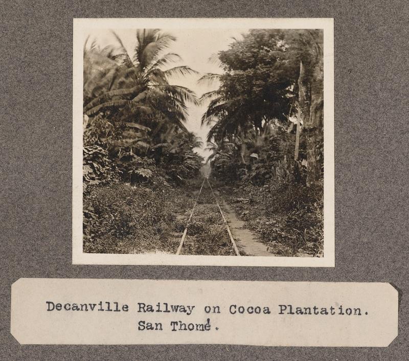 Decanville Railway on Cocoa Plantation. San Tomè.