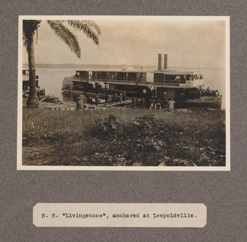 S. S. Livingstone, anchored at Leopoldville
