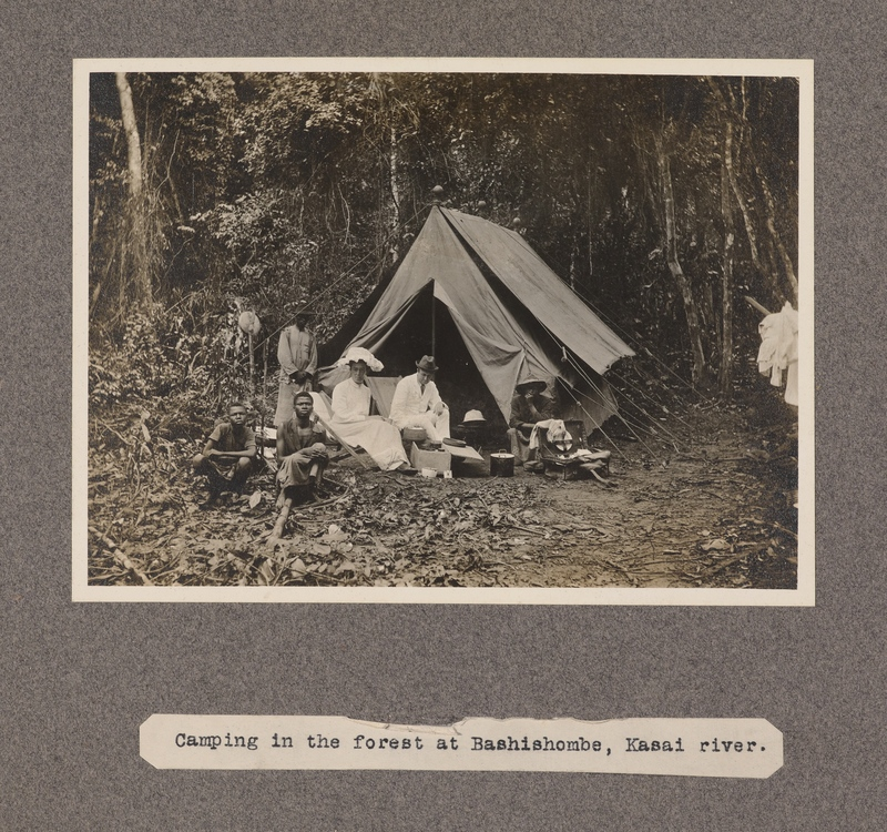 Camping in the forest at Bashishombe, Kasai River