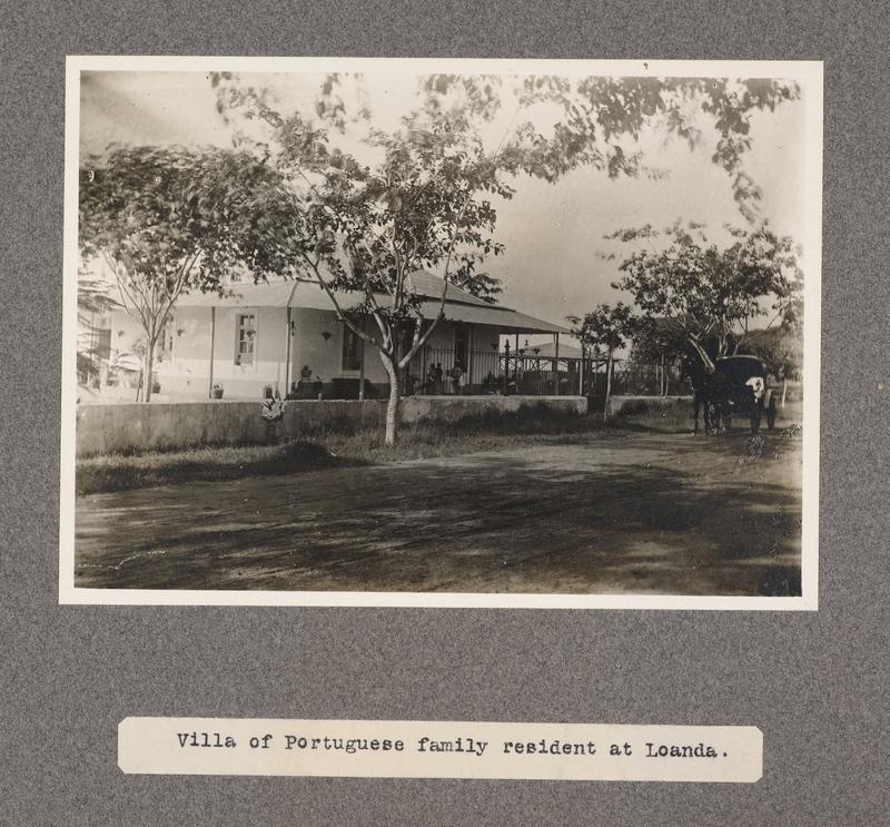 Villa of Portuguese family resident at Loanda