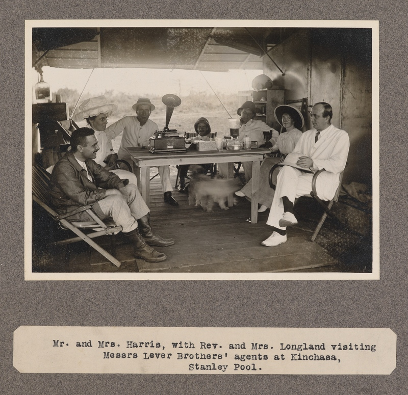 Mr. and Mrs. Harris, with Rev. and Mrs. Longland visiting Messrs. Lever Brothers' agents at Kinchasa, Stanley Pool