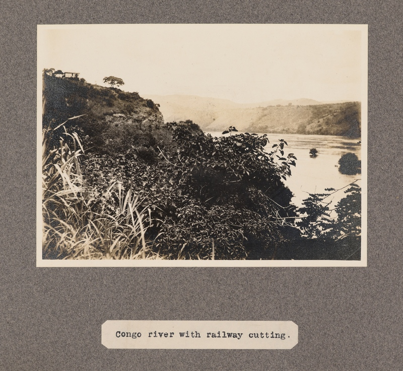 Congo River with railway cutting