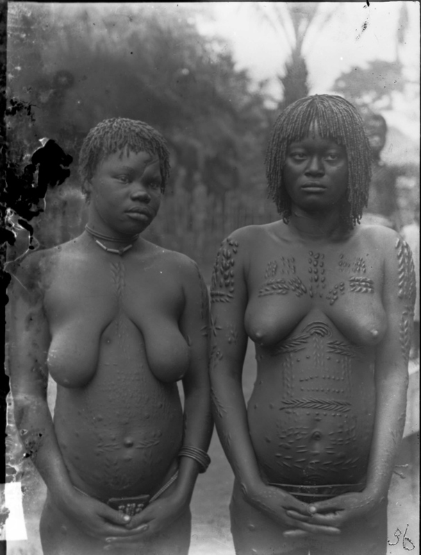Two African Women with Traditional Scarification