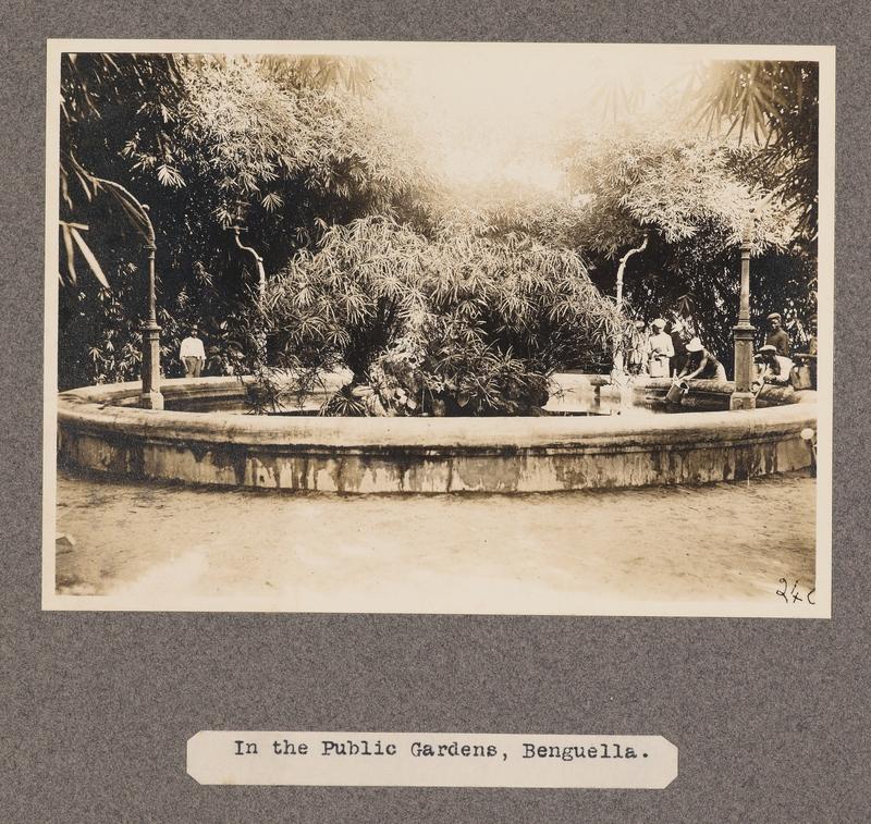 In the public gardens, Benguella