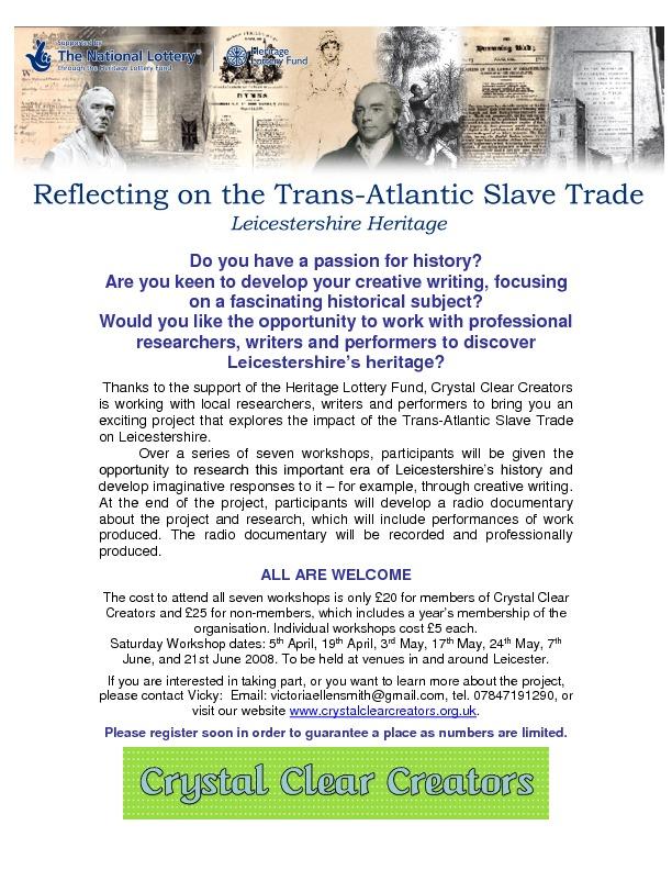Reflecting on the Trans-Atlantic Slave Trade