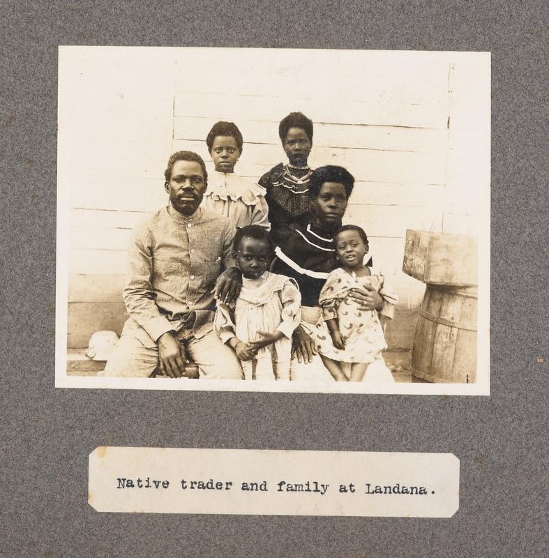 Native trader and family at Landana