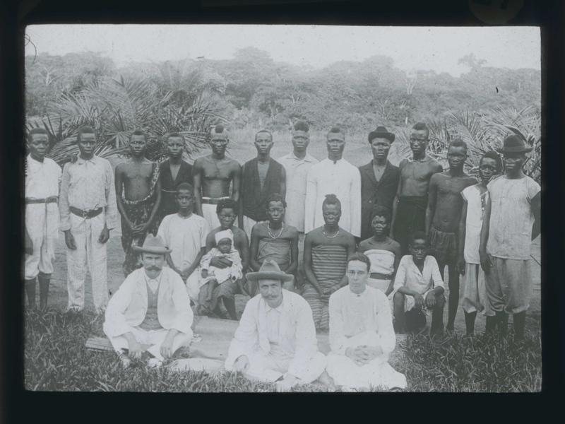 John Harris, Alice Seeley Harris, Rev. Edgar Stannard with the Congolese