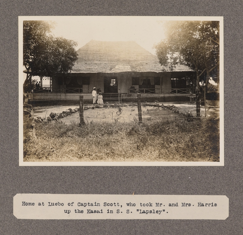 Home at Luebo of Captain Scott, who took Mr. and Mrs. Harris up the Kasai in S. S. Lapsley