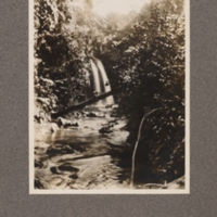 Waterfall on Cocoa Roça in San Thomé