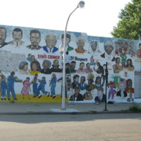 Wardell McClain, Sim's Corner Wall of Respect, 618 E 47th St at South Champlain Ave. [Black Neighborhood], Chicago, 2009.jpg