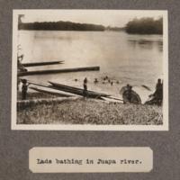 Lads bathing in Juapa River