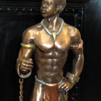 2007 WISE Statue presented by President of Ghana.jpg