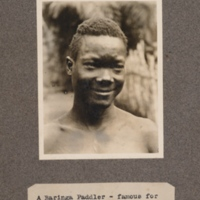 A Baringa paddler – famous for his boat songs