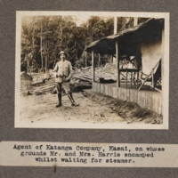 Agent of Katanga Company, Kasai, on whose grounds Mr. and Mrs. Harris encamped whilst waiting for steamer