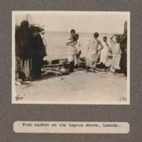 Fish market on the lagoon shore, Loanda