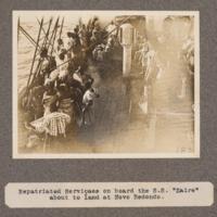 Repartiated servicaes on board the S.S.