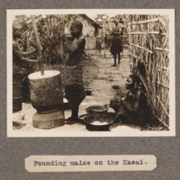 Pounding maize on the Kasai