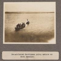 Repartiated servicaes going ashore at Novo Redondo
