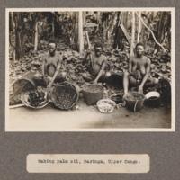 Making palm oil, Baringa, Upper Congo
