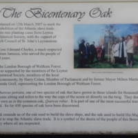 2007 Leyton and Leytonstone Bicentenary Oak Plaque.jpg
