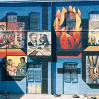 John Weber, Wall of Choices, Christopher Settlement House, N Greenview Ave and W Altgeld St, Chicago 1970 [destroyed].jpg