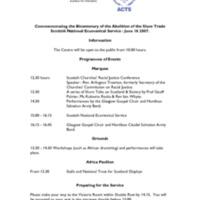 Scottish National Ecumenical Service, Programme.pdf