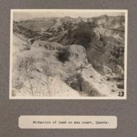Formation of land on sea coast, Loanda