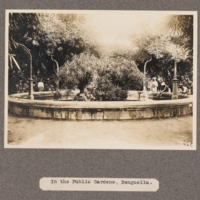 In the public gardens, Benguella