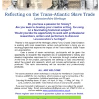 Reflecting on the Trans-Atlantic Slave Trade
