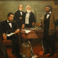 Frederick Douglass Appealing to President Lincoln