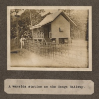 A wayside station on the Congo railway