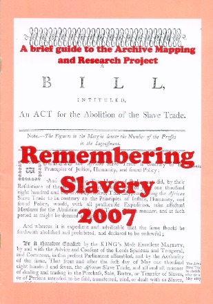 Remembering Slavery Archive and Mapping Project