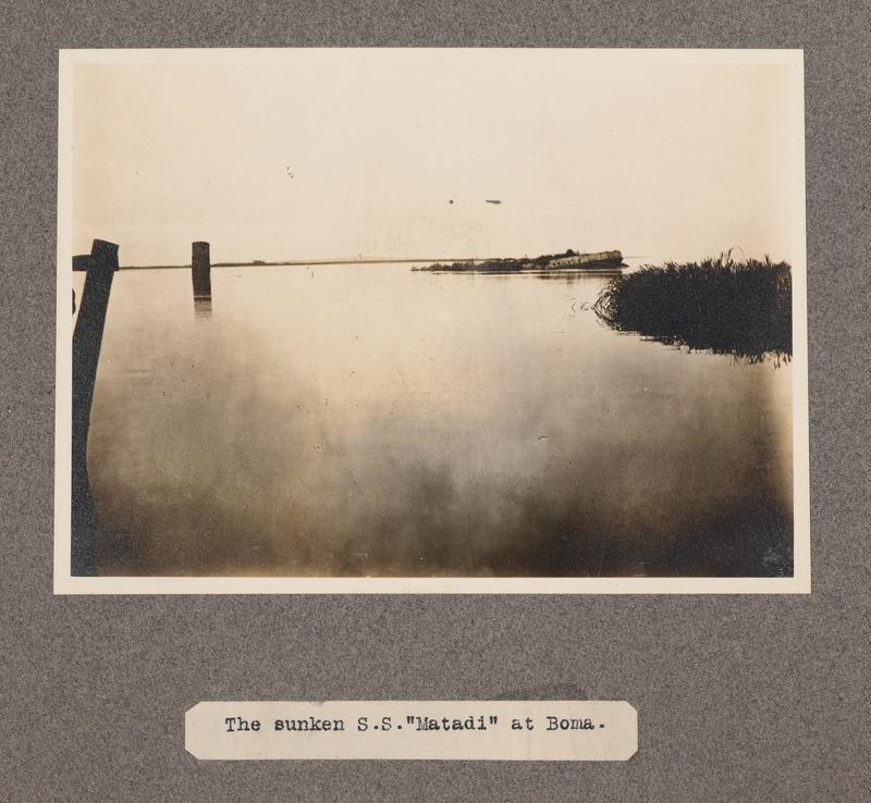 The sunken S. S. Matadi at Boma