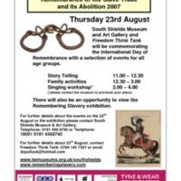 2007 Remembering Slavery South Shields international slavery remembrance day flyer.pdf