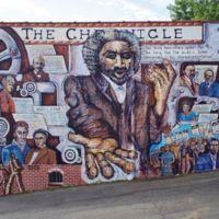 Marianne DiNapoli-Mylet, Looking Back, A History of the Black Press, 617 Liberty Street [Chronicle building], Winston-Salem, NC, 1998.jpg